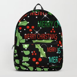 """Merry Christmas Pattern"" Backpack"