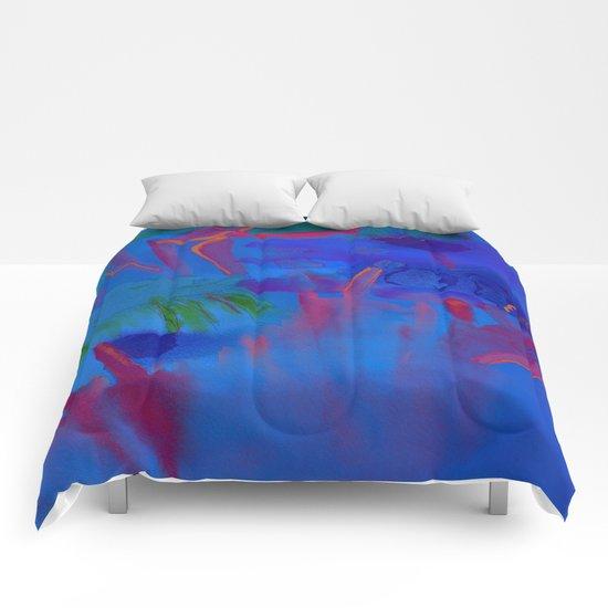 Night Flowers Comforters