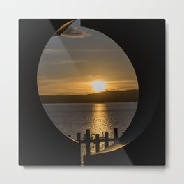 Sunset in Taupo (New Zealand) Metal Print