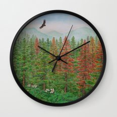 A Day of Forest(8). (coniferous forest) Wall Clock