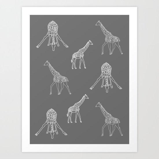Strike a Pose (Giraffe) Art Print
