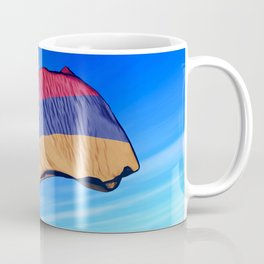 Armenia flag waving on the wind Coffee Mug