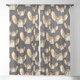 Flying Toasters Sheer Curtain