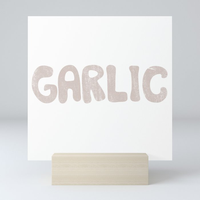 GARLIC Mini Art Print