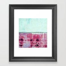 pink rust Framed Art Print