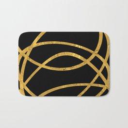 Golden Arcs - Abstract Bath Mat
