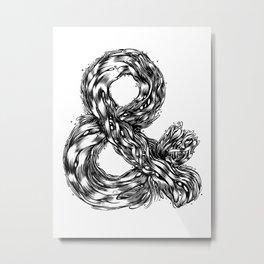 The Illustrated & Metal Print
