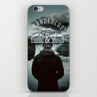 wanderlust iPhone & iPod Skins featuring Wanderlust by UtArt