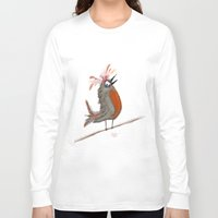 birdy Long Sleeve T-shirts featuring Birdy by Tim Cornwall