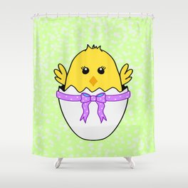 Easter Chick Shower Curtain