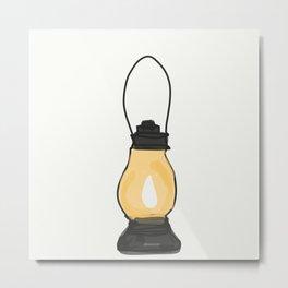 Indian Lantern Lamp   Minimalist doodles Art Metal Print