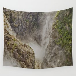 Beautiful waterfall in the rainforest Wall Tapestry