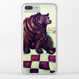 Bear's Bedtime Clear iPhone Case