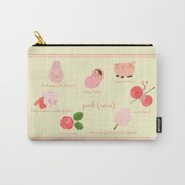 Colors: pink (Los colores: rosa) Carry-All Pouch