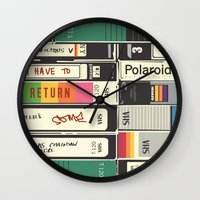 american psycho Wall Clocks featuring American Psycho by r054