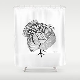 An Ode to Turkey Shower Curtain