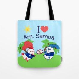 Ernest & Coraline | I love American Samoa Tote Bag