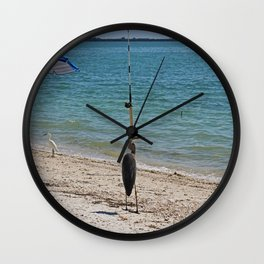 Cast the Line Wall Clock