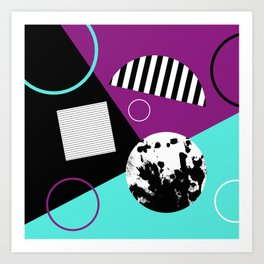 Bits And Bobs 2 - Abstract, geometric design Art Print