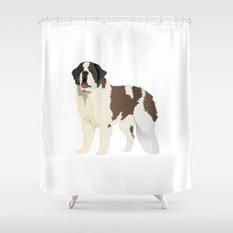 Saint Bernard Dog Shower Curtain