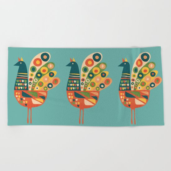 Century Hen Beach Towel