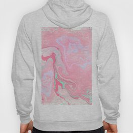 Marbled Effect with Pink Hoody