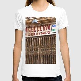 Old Sicilian Butcher Shop in Marsala T-shirt