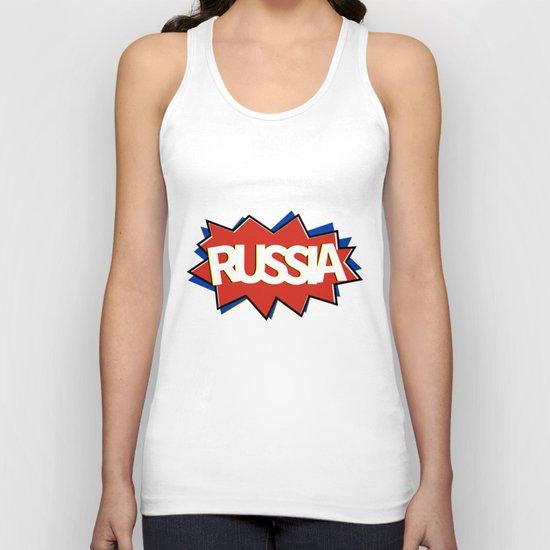 Russia Unisex Tank Top