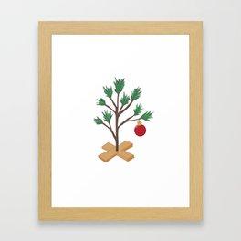 Alone at Christmas - Christmas Tree Framed Art Print