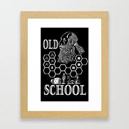 Old School Gamer Framed Art Print