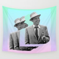 frank Wall Tapestries featuring frank by sebastian kainey