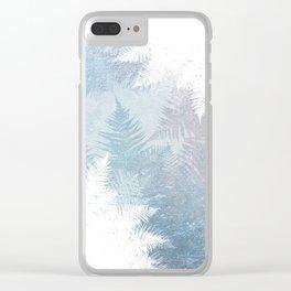 Fern Snowflakes - Taupe, Aqua & Blues Clear iPhone Case