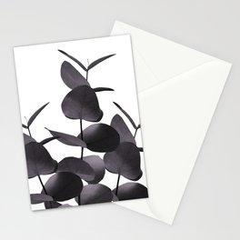 Eucalyptus Leaves Black White #1 #foliage #decor #art #society6 Stationery Cards