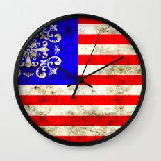 An American flag Wall Clock