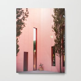 Pink walls | Muralla Roja fine art photography print | pastel colored photo art Metal Print
