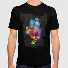 Bubbled Black Mens Fitted Tee X-LARGE