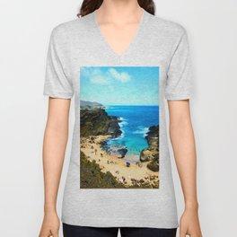 Halona Beach Cove ... By LadyShalene Unisex V-Neck