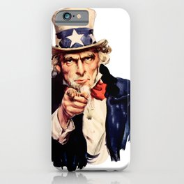 Uncle Sam Pointing Finger iPhone Case
