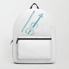 Blue Violin Music Instrument Backpack