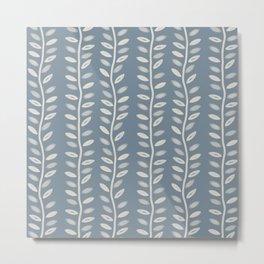 Leaf block print Metal Print