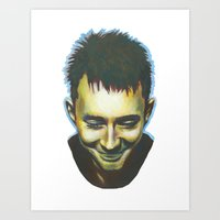 radiohead Art Prints featuring Radiohead by Laura O'Connor