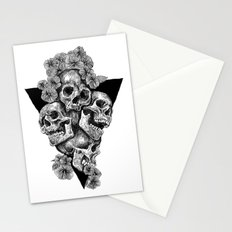 skulls&hibiscus2 Stationery Cards