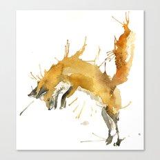 Jump Foxy Canvas Print