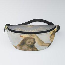 """Andrea del Verrocchio andd Leonardo da Vinci """"Baptism of Christ"""" Fanny Pack"""