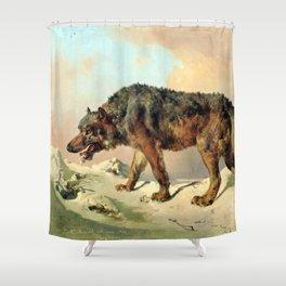Sibirischer Wolf Shower Curtain