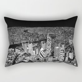 London in BW Rectangular Pillow