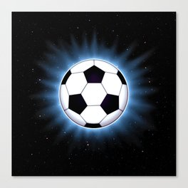 Spacey Soccer Ball Canvas Print