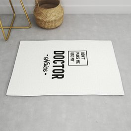 Doctor Work Job Title Gift Rug