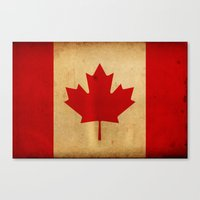 canada Canvas Prints featuring Canada by NicoWriter