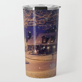 White Christmas Travel Mug